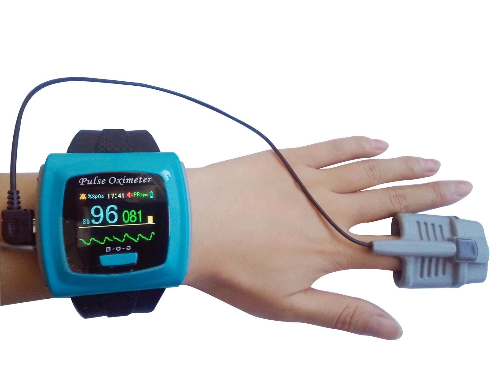 cms50fw wrist pulse oximeter with bluetooth oled display alarm rechargeable. Black Bedroom Furniture Sets. Home Design Ideas